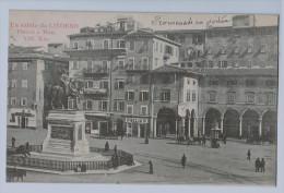 Cpa LIVORNO  Saluto Da Livorno , Place Victor Emanuel , Carte Précurseur , Annotée , Non Utilisée ! - Livorno