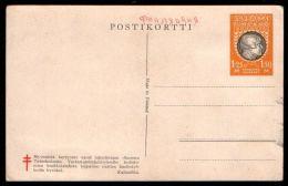 Finland 1.25M+1.50M Kalevala Anti-tuberculosis Semi-Postal Postal Card 1936 - Postal Stationery
