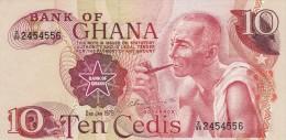 Banconota, Ten Cedis. Ghana 1978 - Ghana