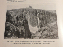 Grosse Schneegrube Schneekoppe Riesenberg Wetterstation Hospiz Deutschland Germany 1937 - Prints & Engravings