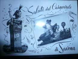 Savona Saluti Dal Carnevale Usata 28.02.54 - Savona