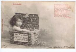 Colis Bébé , Dans Un Panier D'osier , Poesie De Gaboriaud , Bergeret , Nancy - Bergeret