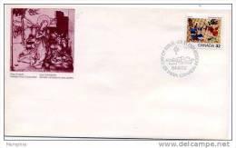 1984 Noël: Tableau De Jean Dallaire   Scott  1040  Y&T 899 - Omslagen Van De Eerste Dagen (FDC)