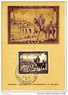 SARRE Carte Maximum Journée Du Timbre 1951 - Cartes-maximum