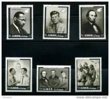 AJMAN  MNH 1977  Set Of 6 «In Memory Of Martin Luther King» - Ajman