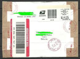 USA 2013 Registered Cover To ESTONIA Estland - Entiers Postaux