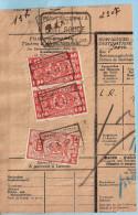 Spoorwegfragment, Afst. WARNETON 05/10/1942 + Stempel POIDS RECONNU A PONT ROUGE - 1942-1951