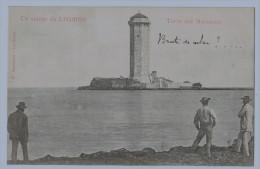 Cpa LIVORNO  Saluto Da Livorno , Torre Dei Marzocco, Annotée  , Carte Précurseur ,  Non Utilisée ! - Livorno