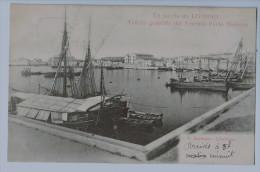 Cpa LIVORNO  Saluto Da Livorno , Veduta Generale Vecchio Porto Medicco  , Carte Précurseur ,annotée! - Livorno