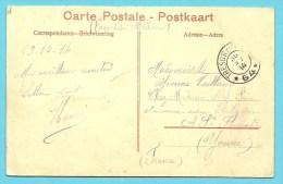 """Kaart """"YPRES """" Stempel TRESOR ET POSTES 64 Op 30/10/1914 !! Dernier Jour Que La Poste DeYPRES Est Officielement Ouverte: - Not Occupied Zone"""