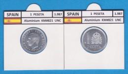 SPAIN /JUAN CARLOS I    1 PESETA  1.987  Aluminium  KM#821   UNCIRCULATED  T-DL-9377 - 1 Peseta