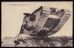 WWI WW1 War Grande Guerre 1914/18  CPA Chard Lourd Au Sommet D´une Crête. Old Postcard - Guerre 1914-18