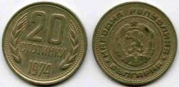 Bulgarie Bulgaria 20 Stotinki 1974 KM 88 - Bulgarije