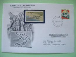 Italy 1993 Special Cover World War II 50 Anniversary - Castle Grenada Planes Map Soldiers - Seconda Guerra Mondiale