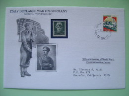 Italy 1993 Special Cover World War II 50 Anniversary - Castle Hitler Soldier Gun Flags - Seconda Guerra Mondiale