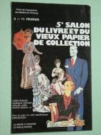 5e Salon Du Livre Et Du Vieux Papier De Collection / Porte De Chaperret ( 0424 ) Anno 1979 ( Zie Foto Voor Details ) !! - Bourses & Salons De Collections