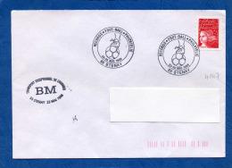 Y&T N°3085 - TVP  LUQUET  S/lettre Oblitération Illustrée STENAY  RECORDS FOOT-BALL+ Bureau MOBILE(4147) - 1997-04 Marianne Of July 14th