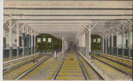 NEW YORK FOUR TRACK SUBWAY AT SPRING STREET NEW YORK  BELLE CARTE RARE !!! - Ponts & Tunnels