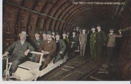 NEW YORK FIRST PARTY TO GO THROUGH MC ADOO TUNNEL  BELLE CARTE RARE !!! - Ponts & Tunnels