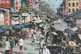 Asie,chine,HONG KONG,marché,market Existing In The Open Street Kowloon,vue Sur Les Magasins,photograph Cheng,rare - Cina (Hong Kong)