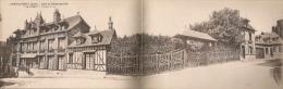 """Lyons-la-Forêt - Gare De Ménesqueville """"Le Frêne"""" - Rare Carte Double Panoramique - Lyons-la-Forêt"""