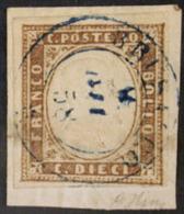 #12644 - SARDEGNA - Da BRUSASCO 8/6/1858 - (p.10) - N. 14, Su Frammento, Perfetto - F.OL.# - Sardegna