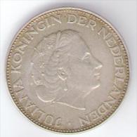 PAESI BASSI 2 1/2 GULDEN 1966 AG SILVER - [ 3] 1815-… : Reino De Países Bajos