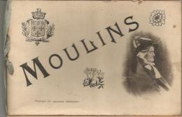Moulins - Carnet De 15 Photos De Moulins - Vues Générales Et Monuments - 5 Vues Animées - Reproductions