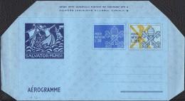 """VATICANO - AEROGRAMMA, AEROGRAMME - SALVATOR MUNDI / PROVVISORIO - 1979 - L. 20 + 200 - CATALOGO FILAGRANO """"A16"""" - NUOVO - Interi Postali"""