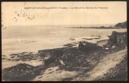 BRETIGNOLES SUR MER (Vendée).- La Côte Et Les Rochers  Du Prégneau - Bretignolles Sur Mer