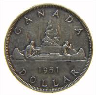CANADA DOLLAR 1951 GEORGE VI - SILVER SILVER ARGENTO - Canada