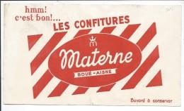 BUVARD: Confitures Materne Boué Aisne - Buvards, Protège-cahiers Illustrés