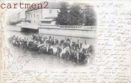VESOUL CAVALIERS MILITAIRES A L'ABREUVOIR 70 HAUTE-SAONE 1899 - Vesoul