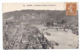 CPA Rouen 76 Seine Maritime Ensemble Des Quais Et Bonsecours Edit ELD N°346 Be écrite Timbrée 1927 - Rouen
