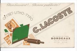 BUVARD: Imprimerie C. Lacoste à Bordeaux - Buvards, Protège-cahiers Illustrés