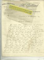 54 - Meurthe-moselle - DOMBASLE-SUR-MEURTHE - Facture GALLAND - Fabrique D'huile – 1913 - France