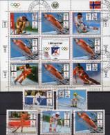 NORGE Winner Winter-Olympia Paraguay 4323/7 Plus 4327 9KB O 30€ Alpin Ski Flug Abfahrt-Lauf M/s Olympic Sheet Bf America - Paraguay