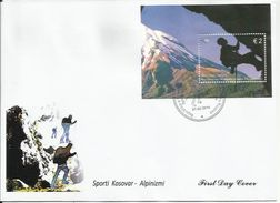 KOS 2014-273 ALPINISAM, KOSOVO, S/S, FDC - Kosovo