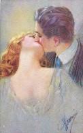 AK KÜNSTLERKARTEN SCHÖNES JUNGE PAARE SIGNIERT KARTE No. 1032-2..OLD POSTCARD 1927 - Couples