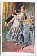 AK KÜNSTLERKARTEN SCHÖNES JUNGE PAARE SIGNIERT KARTE :JODOLFI,No. 492.OLD POSTCARD 1927 - Couples