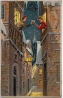 AK KÜNSTLERKARTEN SCHÖNES JUNGE PAARE  TRIESTE NEUJAHRE OLD POSTCARD 1911 - Couples
