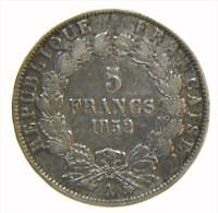 FRANCIA - 5 FRANCS 1852 A. LOUIS NAPOLEON BONAPART. ARGENT - Francia