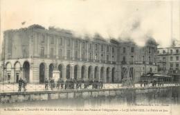 35 RENNES - L'Incendie Du Palais Du Commerce - Hôtel Des Postes Et Télégraphes Le 29 Juillet 1911 - Rennes