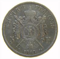 5 FRANCS NAPOLEON III Lauré 1868 BB -  ARGENT - Francia