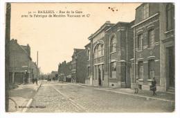 """""""France 59 - Bailleul - Rue De La Gare Avec La Fabrique De Meubles Vandame Et Cie"""" - Dunkerque"""