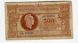 500 Francs Tresor Central - Trésor