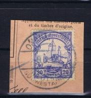Deutsche Post In Südwestafrika Okahandja  9-3-1912 Mi 27 Voll-Stempel Auf Briefstück - Kolonie: Deutsch-Südwestafrika