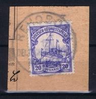 Deutsche Post In Südwestafrika Rehobot  11-12-1912 Mi 14 Voll-Stempel Auf Briefstück - Kolonie: Deutsch-Südwestafrika