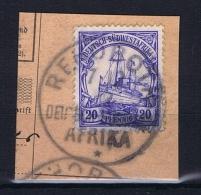 Deutsche Post In Südwestafrika Rehobot  7-12-1912 Mi 14 Voll-Stempel Auf Briefstück - Kolonie: Deutsch-Südwestafrika