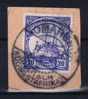 Deutsche Post In Südwestafrika Omaruru  11-11-1913 Mi 27 Voll-Stempel Auf Briefstück - Kolonie: Deutsch-Südwestafrika